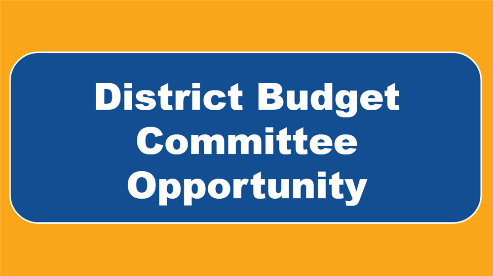District Budget Committee Opportunity