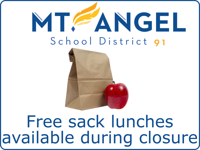 Free Sack Lunches Available throughout closure