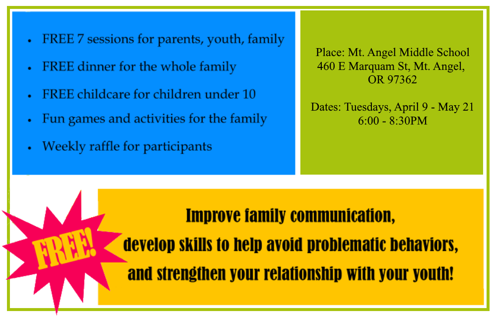 FREE - Strengthening Families Program - for Parents & Youth, Ages 10-14