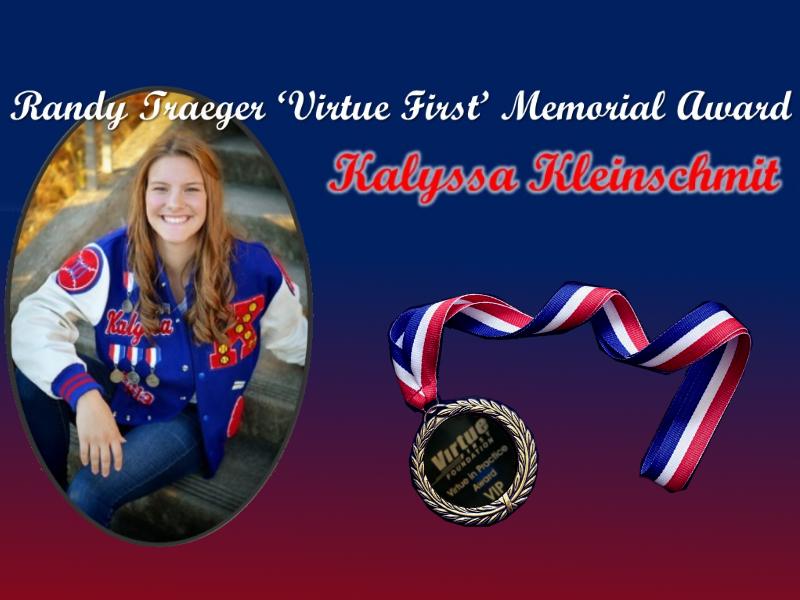 Kalyssa Kleinschmit given Virtue First Memorial Award