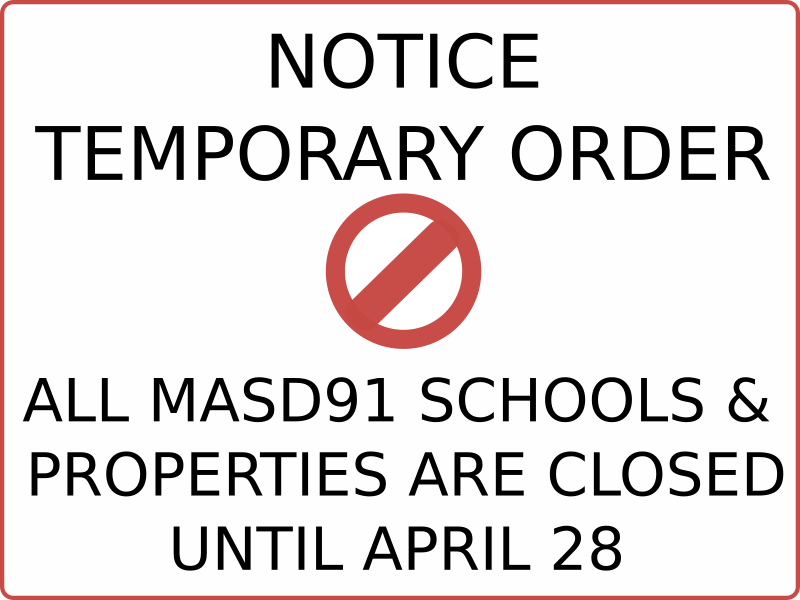All Schools and Properties Closed until April 28