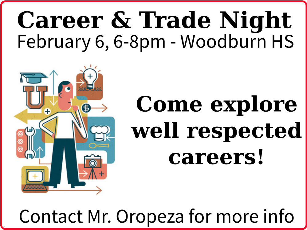 Visit Woodburn High School's Career & Trade Night!